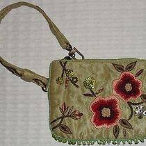Express by the Limited Purse Small Wristlet Satin Beaded Beautiful New Condition Photo