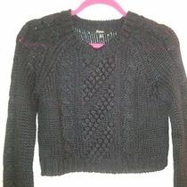 Express Cable Knit Cropped Sweater Photo
