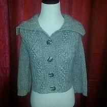 Express Cable Knit Sweater Gray  Size S Photo