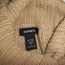 Express Cable Knit Sweater Tan Size L Photo
