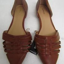 Express Camel d'orsay Pointed Flats Sz 10 Photo