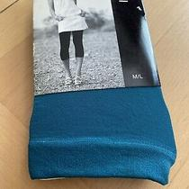 Express Capri Length Footless Tights Size M/l Teal New in Package Photo