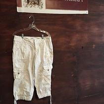 Express Capris White With Gold Embroidery 10  Photo