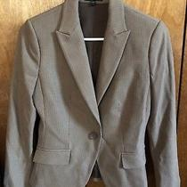 Express Career Blazer Brown Striped Size 0 Photo