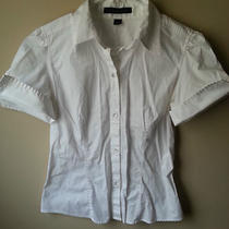 Express Career Button Up Top-White-Size 8 Photo