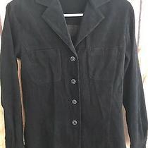 Express Career Women's Xs Black Lightweight Blazer/blouse Button-Up  Photo