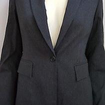 Express Charcoal Gray Sigle Breasted Suit Blazer Jacket Sz 2 Photo