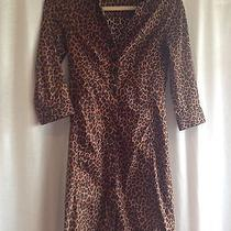 Express Cheetah Print Shirt Dress Size 2 Photo