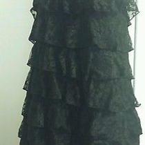 Express Chiffon Rosette Strapless Dress Size M Photo