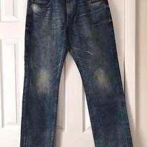 Express Clothing for Men Jeans on Sale Rocco 34x34 Slim Fit Straight Leg Nwt Photo