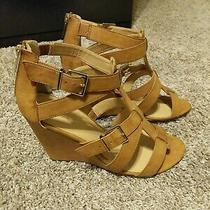 Express Cognac Wedges Size 10 - New Photo