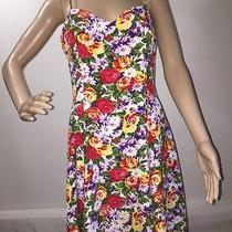 Express Colorful Floral Print Sundress Casual Summer Dress - 11/12 Photo
