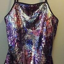 Express Colorful Sequined Corset Top Size Xs Showgirl Pin Up Sequins Sexy Glam Photo