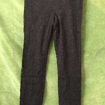 Express Columnist Black Lace Pants Size 4r Photo