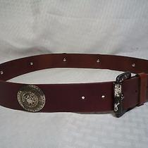 Express Compagnie Internationale Leather Belt Made in Italy Size L Photo