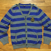 Express Cotton Cardigan Military Style Sweater Men's Size M  Photo