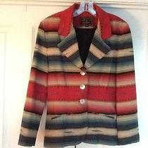 Express Cowgirl Southwestern Fitted 9/10 Jacket With Mother of Pearl Buttons Photo