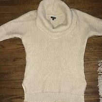 Express Cowl Neck Sweater 3/4 Sleeve Sz Xs  Photo