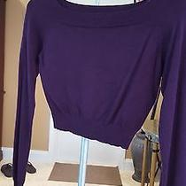 Express Crop Long Sleeve Sweater Plum Photo