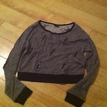 Express Crop Sweatshirt Lightning Bolt Nwt Size S Photo