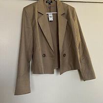 Express Cropped Double Breasted Blazer Size Small Photo