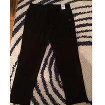 Express Cropped Stretch Black Leggings Photo