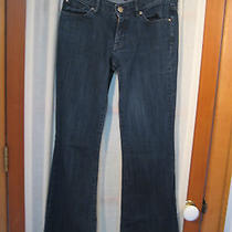 Express Dark Blue Eva Fit & Flare Jeans Size 4r  Photo