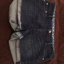 Express Dark Denim Shorts Size 12 Like New Photo