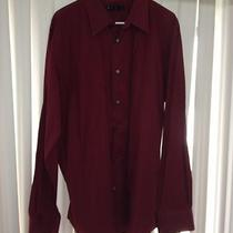 Express Dark Red Button Down Oxford Shirt Men's Size Xl Photo