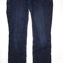 Express Dark Wash Low Rise Slim Skinny Leg Denim Jeans 5 Pocket Like New Size 4 Photo