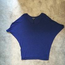 Express Deep Purple Knit Top Sz Xs Short Sleeve Photo