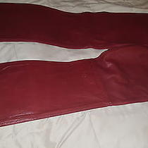 Express Deep Red Genuine Leather Boot Cut  Size 13/14 Photo