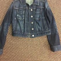 Express Denim Jacket Blue Size Xs Photo
