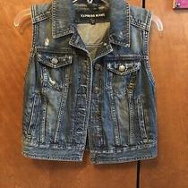 Express Denim Jean Vest Size S Nwot Photo