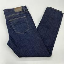 Express Denim Jeans Men's 33x30 Blue Alec Super Skinny Fit 5-Pocket Cotton Blend Photo