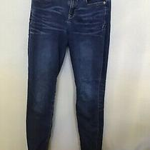 Express Denim Jeans Size 0 Blue Mia Ankle Legging Mid Rise Skinny Dark Wash  Photo