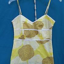 Express Design Studio 100% Cotton Spaghetti Strap Multi-Color Crop Top Size S Photo