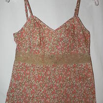 Express Design Studio Adorable Floral Print Top W/pearl Buttons  Size S Photo