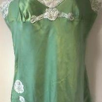 Express Design Studio Apple Green Silk Chemise Negligee Lingerie Medium Photo