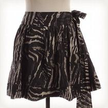 Express Design Studio Black and White Print Side Tie Skirt Sz Xs a-Line Photo