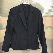 Express Design Studio Black Blazer 2 Button Coat Business Size 4 Photo