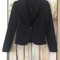 Express  Design Studio Black Business Suit Jacket Womens Size 2  Euc  Button Photo