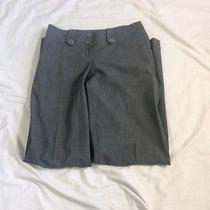 Express Design Studio Black & Gray Print Pants Size 0 Editor Photo