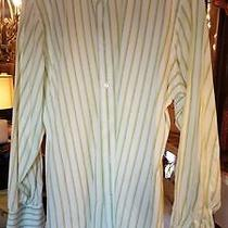 Express Design Studio Button Front Stripped Shirt With French Cuff  Size Xl Photo