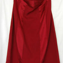 Express Design Studio  Cranberry Silk Blend Strapless Dress  Matte/satin    12 Photo
