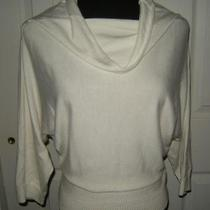 Express Design Studio Cream Off White Sweater 3/4 Length Sleeves Size Small Photo