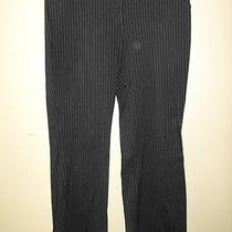 Express Design Studio Editor Black Pinstripe Flat Front Dress Pants Size 12 Reg Photo