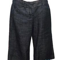 Express Design Studio Editor Trouser Cropped Capri Jeans Pant Dark Capris 0 Photo
