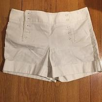 Express Design Studio Editor Women's White Shorts Size 4 Photo