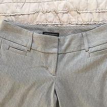 Express Design Studio Gray Grey Pinstripe Crop Cropped Dress Pants Work 0 Xs Photo